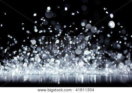 Bright silver glitter