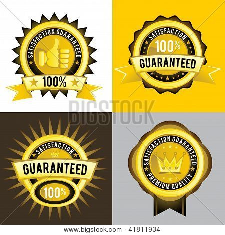 Satisfaction Guaranteed and Premium Quality Golden Labels