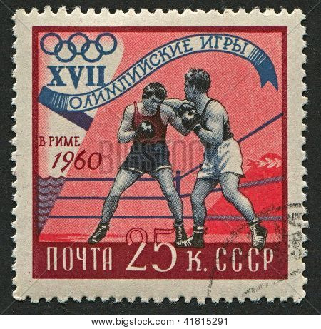 USSR - CIRCA 1960: Postage stamps printed in USSR dedicated to XVII Summer Olympics (1960), circa 1960.