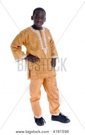 Vestido de nativo africano