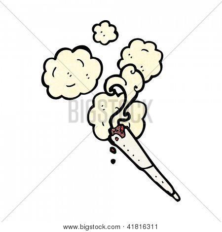 cartoon marijuana cigarette
