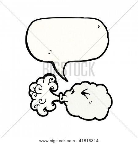 cloud blowing wind cartoon