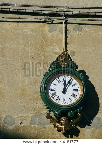 The Old Clock In Venice