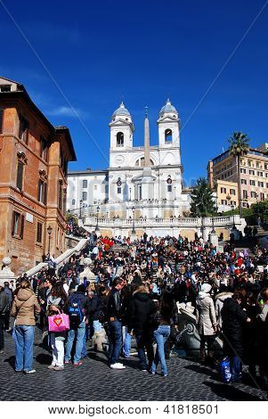 Spanish Steps In Piazza Di Spagna In Rome, Italy
