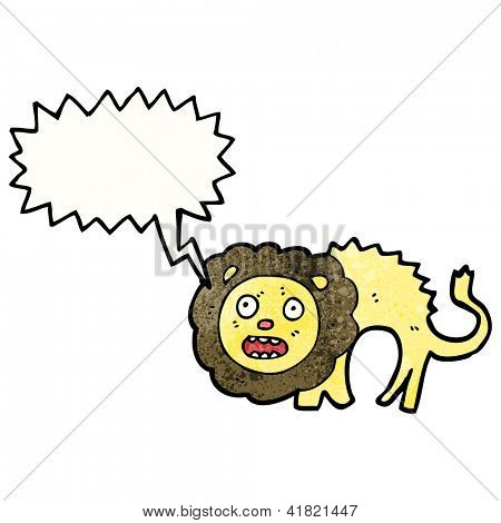 cartoon cowardly lion