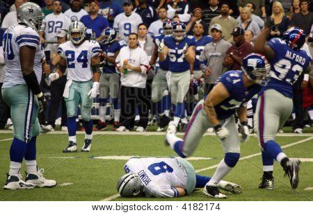 Cowboys Tony Romo Sacked