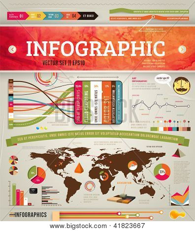 Set elements of infographics for design, eps 10 vector illustration