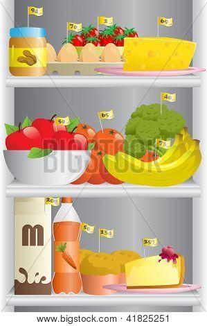 Food In Refrigerator