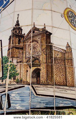 Talavera pottery, tile painting Collegiate
