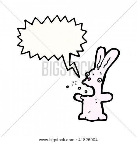 cartoon belching rabbit