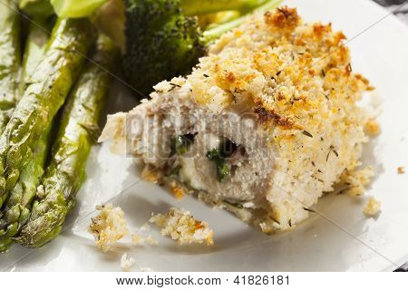Breaded Homemade Chicken Cordon Bleu