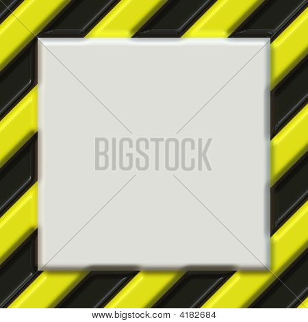 Hazard Warning Sign With Blank Field For Words Or Image