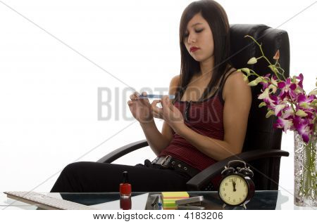 Office, Secretary At Nail Care