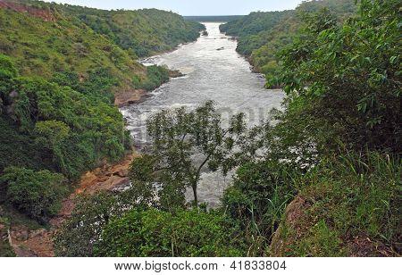 Antenne Kabalega Falls Landschaft