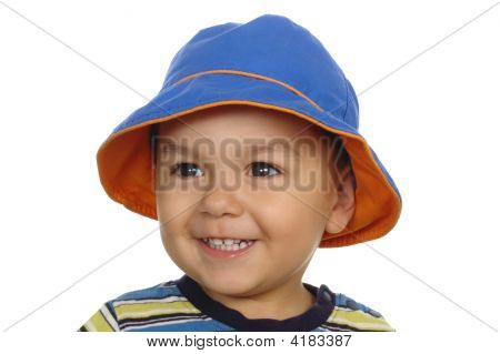 One-Year-Old Child With Blue Hat