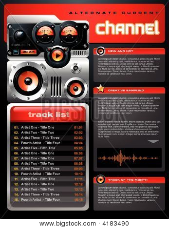 Red Analog Mp3 Player Brochure