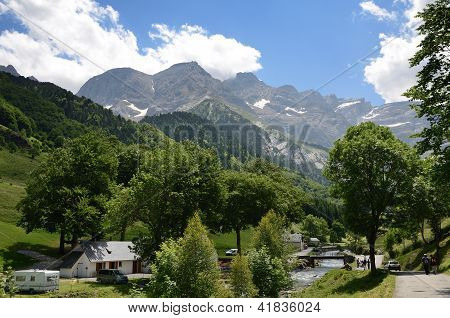 Summer View Of The Village Gavarnie