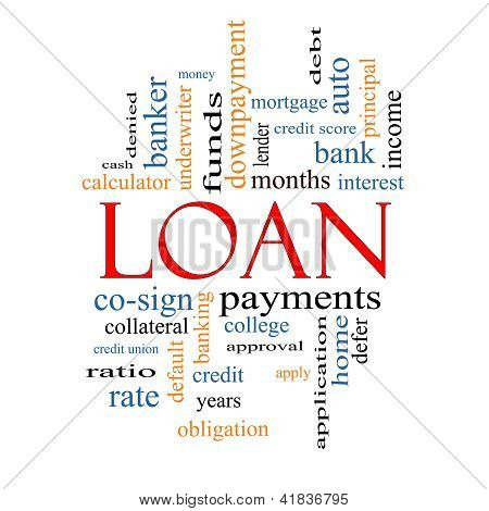 Loan Word Cloud Concept