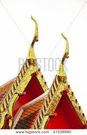 The Gable Apex On Church Temple Thai