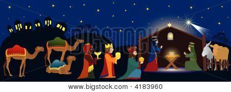 Betlehem And Three Kings.Eps