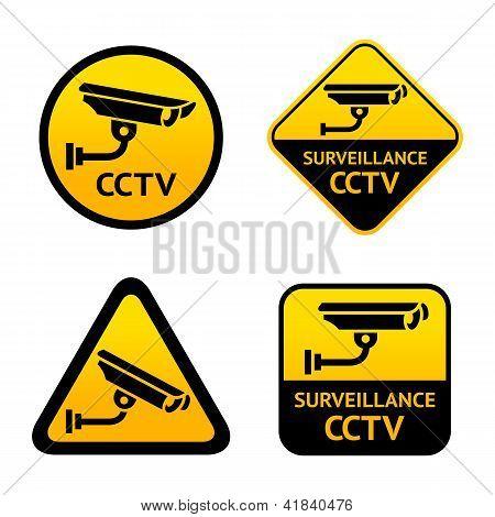 Video surveillance, set stickers