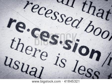 Recesión, Glosario, Macro