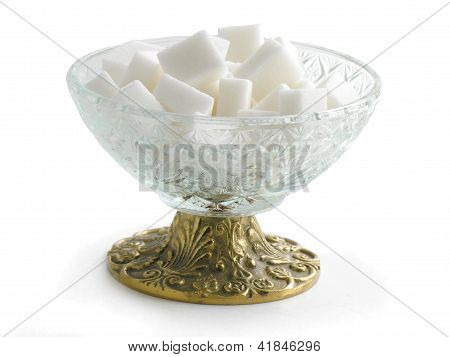 white lumped sugar