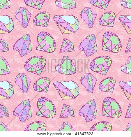 Color diamonds seamless pattern