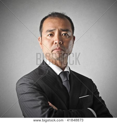 portrait of businessman disappointed