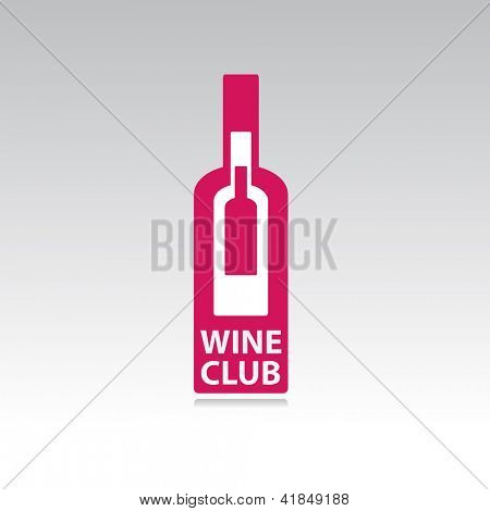 The symbol of the wine club. Sign sommelier. vector