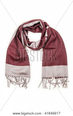 Warf scarf isolated on the white background