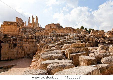 The ruins of ancient jerash