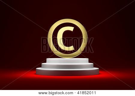 Copyright Symbol On The Podium