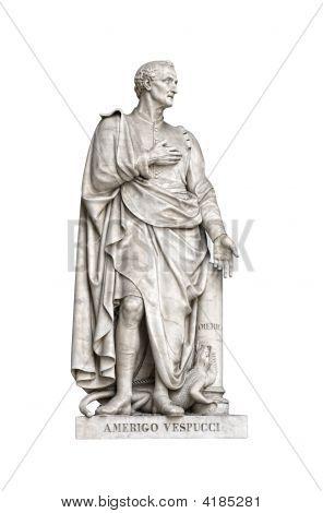Statue Of Amerigo Vespucci (Uffizi, Florence, Italy)