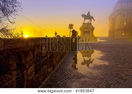 Statue of Eugene of Savoy in Buda Castle, Budapest
