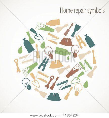 Home repair symbols