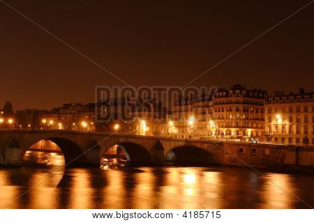 Bridge On Seine River In Paris, France