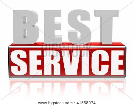 Best Service In Letters And Block