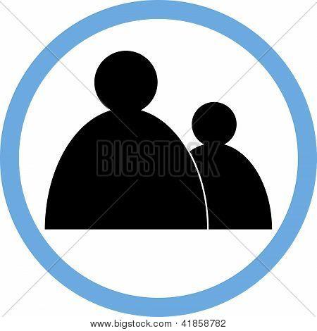 sign circular-people