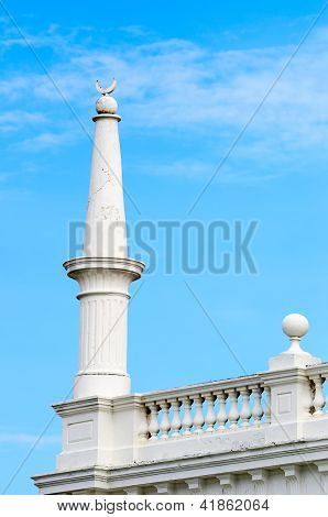 White Column With Muslim Crescent