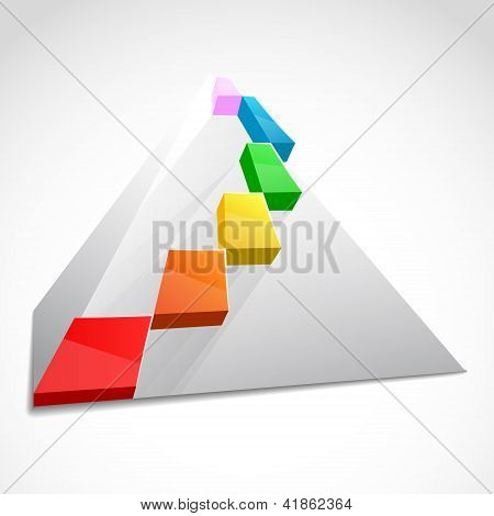 Color layered pyramid. Business concept