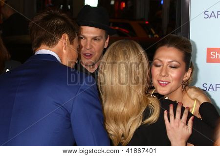 LOS ANGELES - FEB 5:  Gavin DeGraw, Colbie Caillat, Josh Duhamel, Stacy Ferguson AKA Fergie arrives at the 'Safe Haven' Premiere at the TCL Chinese Theater on February 5, 2013 in Los Angeles, CA