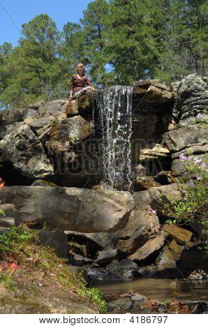 Wasserfall bewundern