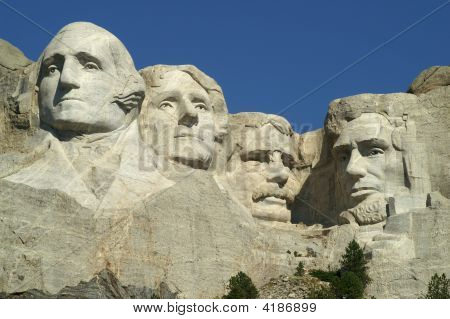 Four Presidents At Mount Ruschmore