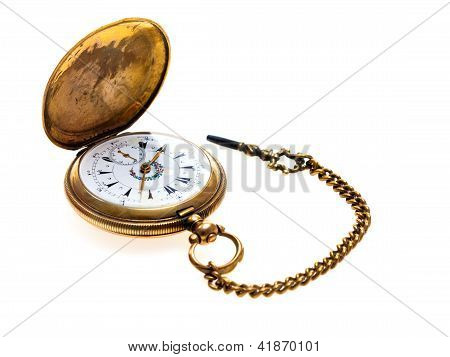 Pocket Watch Antique Golden