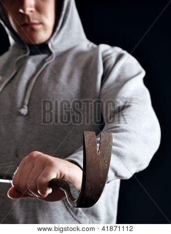 Housebreaker Doing His Crime
