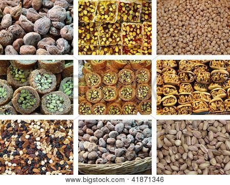 Collection of fresh and dried fruit