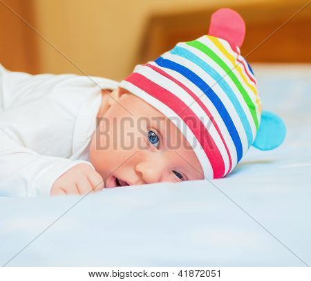 newborn baby in the hat ...