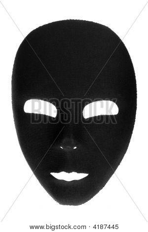 unheimliche schwarze Maske