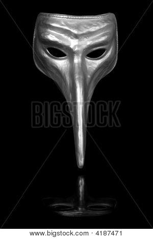 Silver Renaissance Carnival Mask
